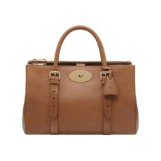 Mulberry - Bayswater Double Zip Tote in Oak Natural Leather