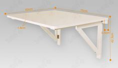 simple wall mounted table | Wall-mounted Drop-leaf Table,Solid Wood Folding Dining Table Desk ...