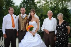 wedding day with grandparents