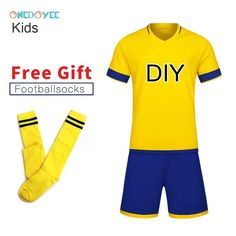9e69c462845 ONEDOYEE Boys Football Jerseys Soccer Uniform Kids Football Kit Training  Suits Jersey Customize Breathable Children Soccer Sets