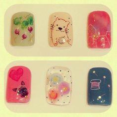 Otter and Random #nail #art #nails #nailart #diy