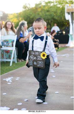 Ring Bearer for an Outdoor desert wedding ceremony at Star Dance Wedding in Tucson, Arizona.