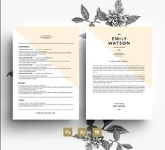 Easy editable Resum Template / Cover Letter template