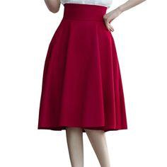 High Waist Pleat Elegant Skirt Green  Price: 26.00 & FREE Shipping  #hashtag4