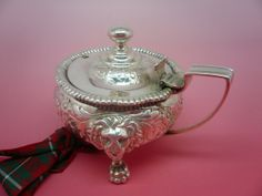 Antique Sterling Silver Mustard Pot English by DartSilverLtd, £495.00