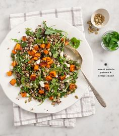 Our dinner has looked like this nearly every night for a week. I don't know what it is, but as soon as fall hits, big grain salads with roasted sweet potatoes seem to take over my life. They're perfect for … Go to the recipe...