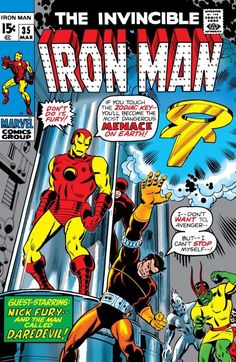 Marvel Comics The Invincible Iron Man - Condition is VF-/VF *The photo(s) featured in this listing are scanned images of the item(s) being o Marvel Comic Books, Comic Books Art, Comic Art, Book Art, Comic Superheroes, Avengers Comics, Marvel Characters, Children's Books, Cartoon Characters