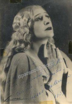 Muzio, Claudia - Signed Photo as Cecilia