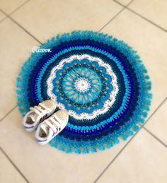 Blue mandala mat