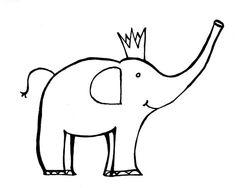 8.5x11 adorable elephant  printable coloring page .PDF by ninotchkab, $1.50