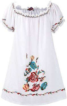 ShopStyle: Uttam white embroidered tunic