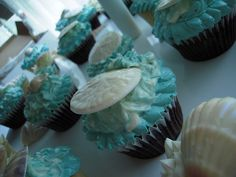 Under the Sea wedding cake & cupcakes by Cakes by Look, via Flickr