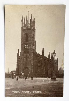 Trinity Church Bolton, no date. Photo credit to I belong to Bolton FB Small Towns, North West, Photo Credit, Big Ben, England, Building, Travel, Viajes, Buildings