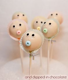 Baby cake pops...creepy in a cool way.