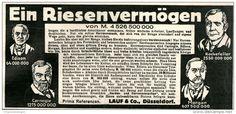Original-Werbung/Anzeige 1914 - HERDEN - UND HERRENMENSCHEN / LAUF DÜSSELDORF -  ca. 160 x 75 mm