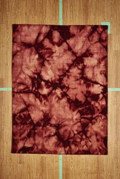 "5' 3"" x 7' 7"" Red Burgundy Tie Dye Handloom Area Rug Modern"