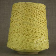 Soft Italian double knitting DK cotton yarn on cone -  primrose yellow
