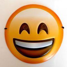 Smiling Happy Emoji Face Mask - For Kids Adults Smiley Gift Fancy Dress Emoticon Fancy Dress Masks, Diy For Kids, Gifts For Kids, Emoji Mask, Face Masks For Kids, Emoji Faces, 3d Face, Mask Party