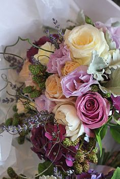 Lavender and lilac bouquet