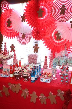 Gingerbread Party Dessert Table #gingerbread #desserttable