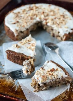 Apple Spice Cake with Coconut Cream Frosting//thefrostedvegan.com