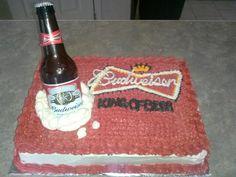 Budweiser cake .