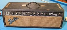 VINTAGE 1963 FENDER BLACKFACE BANDMASTER TUBE GUITAR AMP AMPLIFIER HEAD AB763