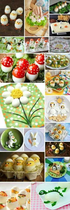 How to serve eggs? Great ideas :)- How to serve eggs? Great ideas 🙂 How to serve eggs? Easter Recipes, Baby Food Recipes, Holiday Recipes, Cute Food, Good Food, Yummy Food, Awesome Food, Fingerfood Party, Food Carving