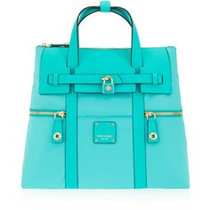 Henri Bendel Jetsetter Convertible Backpack ($278) ❤ liked on Polyvore featuring bags, backpacks, turquoise, zip lock bags, convertible crossbody backpack, convertible backpack crossbody, blue crossbody and locking backpack