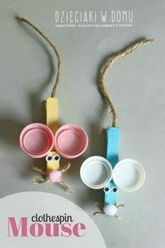 clothespin mouse craft for kids crafts kids projects schools Kids Crafts, Mouse Crafts, Summer Crafts, Toddler Crafts, Crafts To Do, Creative Crafts, Preschool Crafts, Projects For Kids, Diy For Kids