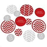 Chevron Red - Personalized Party Confetti BIG size Big Dot Of Happiness, Personalized Party Favors, Red Party, Confetti, Party Supplies, Party Themes, Chevron, Dots, Color