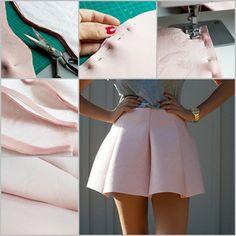 DIY Scuba Mini Skirt | DIY Skirts and Pants for Women