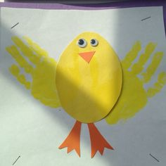 Handprint chicks. Great preschool art project for Easter or ...