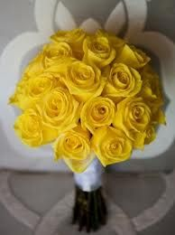 Yellow Rose bouquet (maybe with some baby's breath)