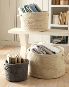 Braided Wool Storage Basket