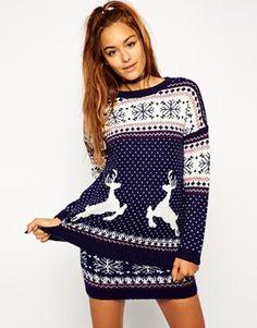 ASOS Co-ord Christmas Jumper in Reindeer Fairisle