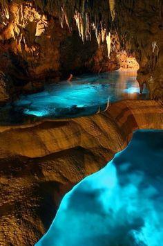 lluminated Caves, Okinawa, Japan