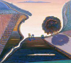 Paintings and Pastels - Wayne Thiebaud - Exhibitions Bay Area Figurative Movement, Pop Art Movement, Farm Paintings, Landscape Paintings, Abstract Paintings, Richard Diebenkorn, David Park, Wayne Thiebaud Paintings, Delta Art