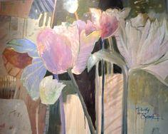 Dorothy Ganek: 40x50 'Standing Tall' Acrylic on Canvas