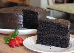 Rich Dark Chocolate Espresso Cake- via Sweet 16's Country Kitchen