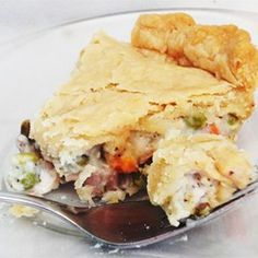 Dad's Leftover Turkey Pot Pie // I've made this a few times now, and took extreme liberties every time, with excellent results. I cut the proportions roughly to a quarter of the original recipe to serve 2, and used leftover mashed potatoes instead of a crust as a base once. Good for using up freezer bits and bobs, including pie crust trimmings!