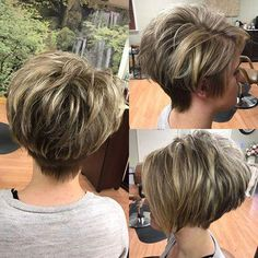 Hair Beauty - Layered-Pixie-Bob-Haircut Best Pixie Haircuts for Over 50 2018 – 2019 Long Pixie Hairstyles, Short Pixie Haircuts, Short Hairstyles For Women, Short Stacked Haircuts, Spring Hairstyles, Bob Haircuts, Short Layered Hairstyles, Short Bobs, Fashion Hairstyles