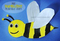 { Printable Bumblebee Craft }
