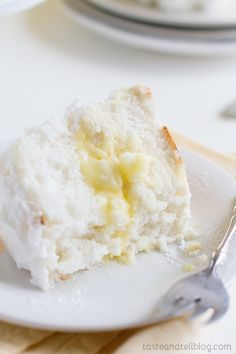 Lemon Meringue Angel Cake - a light, fresh and delicious summer treat!