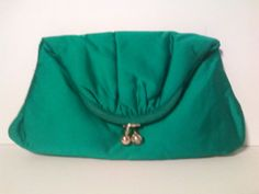 Vintage 1950's Green Clutch Purse by LMTDInteriorConsults on Etsy, $18.50