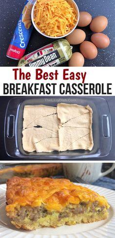 Best Breakfast Casserole, Baked Breakfast Recipes, Crescent Roll Breakfast Casserole, Breakfast Bake, Sausage Breakfast, Breakfast Dishes, Brunch Recipes, Best Breakfast Foods, Savory Breakfast