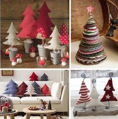 Новогодний декор дома и сада: елки из подручных материалов, фото, идеи