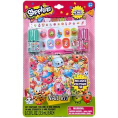 Shopkins Nail Kit ($13) ❤ liked on Polyvore featuring beauty products, nail care and nail art kit