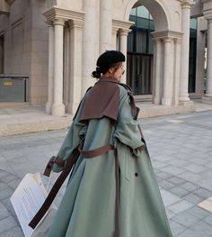 Fashion Coat, Couture Fashion, Street Fashion, Korean Winter Outfits, Winter Outfits Women, Warm Coat, Winter Coat, Wool Coats, Clotheslines