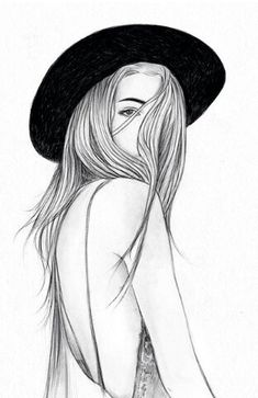 girl, drawing, and art Bild